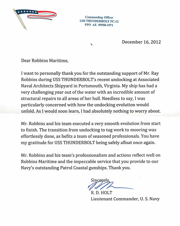 Thank You Letter To Clients For Their Business from robbinsmaritime.com